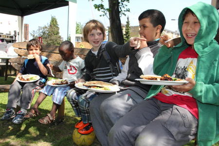 Party celebrates four years of Brookwood Triangle community garden