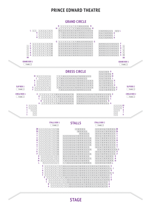 Prince Of Wales Theatre London Seating Plan Reviews