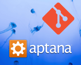 Aptana Studio and Git logos