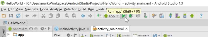 Windows 10 Android Studio run app