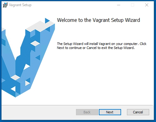 Vagrant Welcome to the Vagrant Setup Wizard