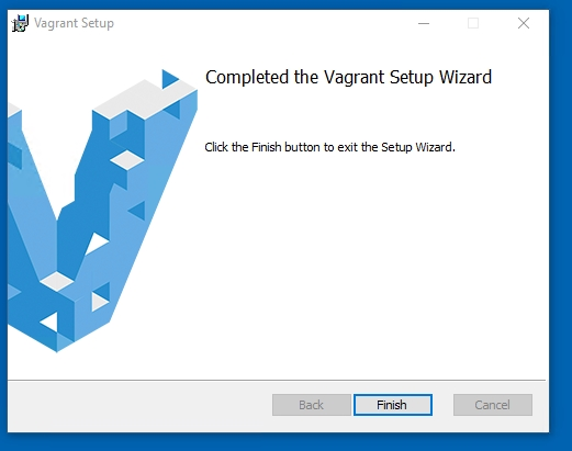 Vagrant Completed the Vagrant Setup Wizard