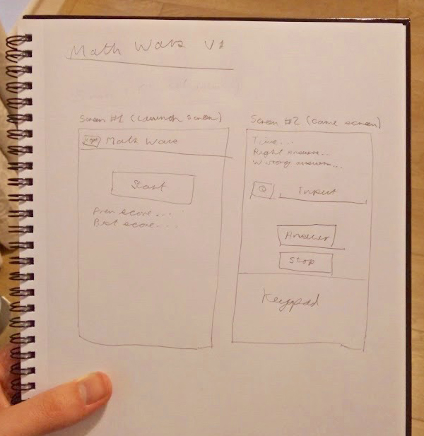 Wireframes for building my first Android app