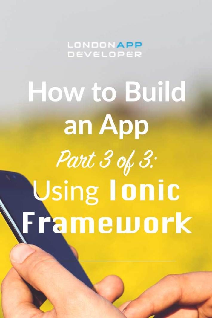 How to build an app ionic