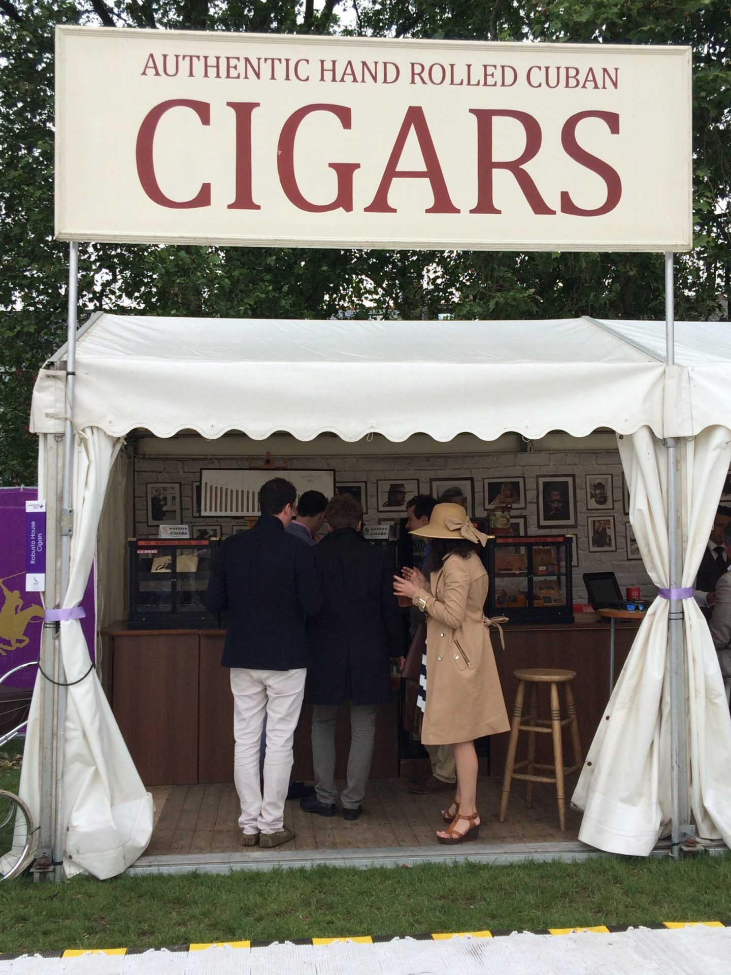 Cigars at Chesterton's Polo in the Park