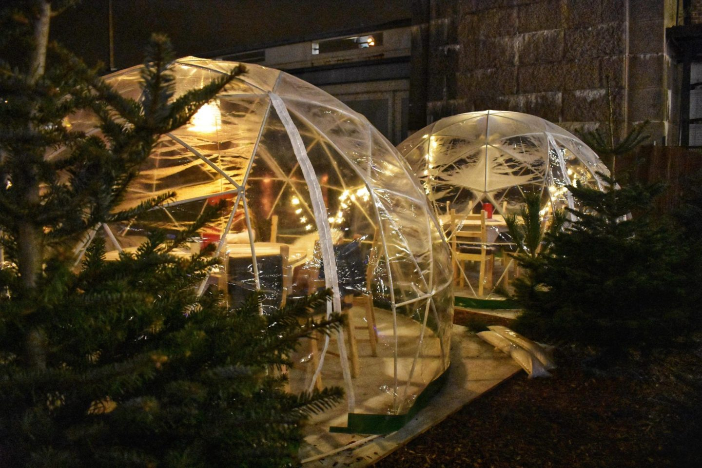 Igloos at Winterland Fulham London