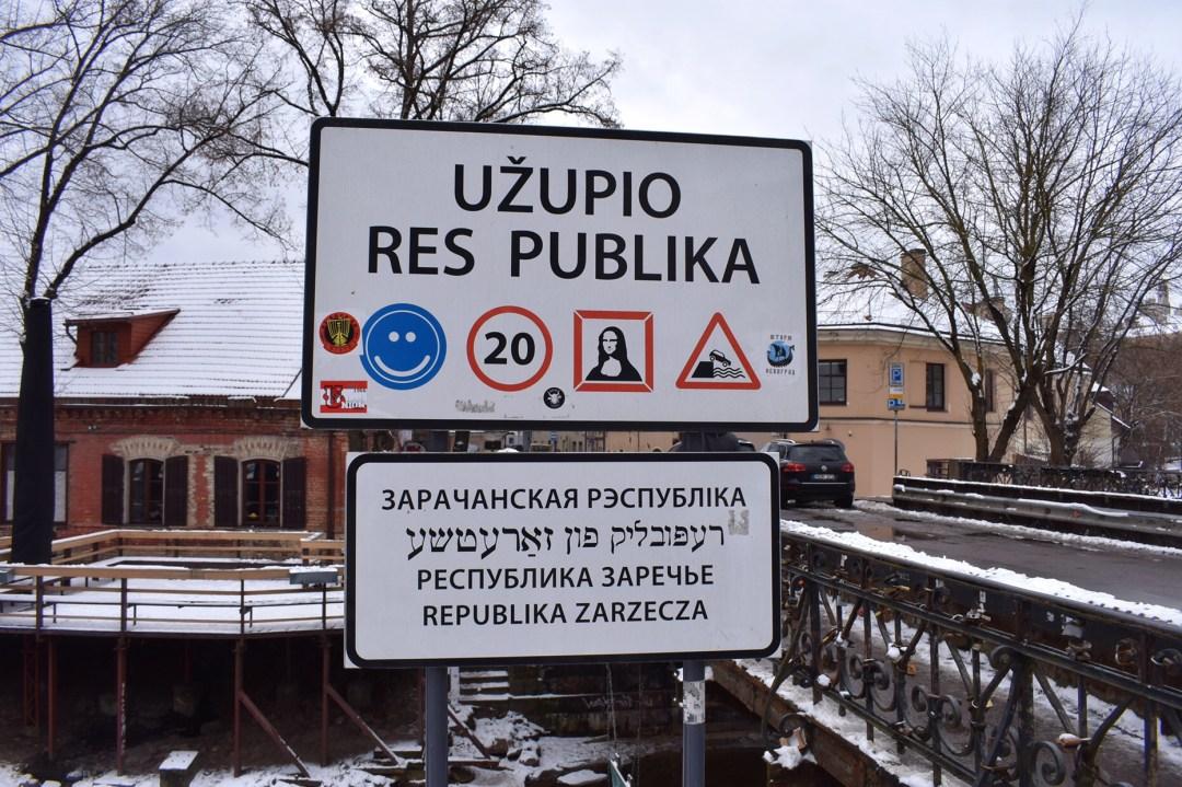 Vilnius Lithuania, Republic ofUžupis