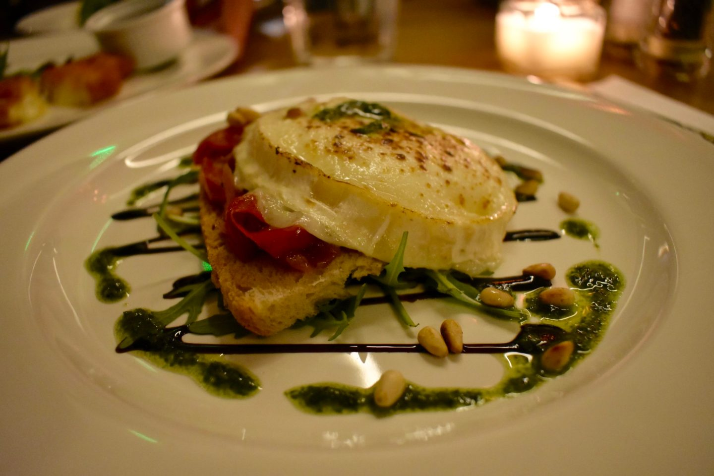 Goats Cheese Bruschetta at The Fulham House, London