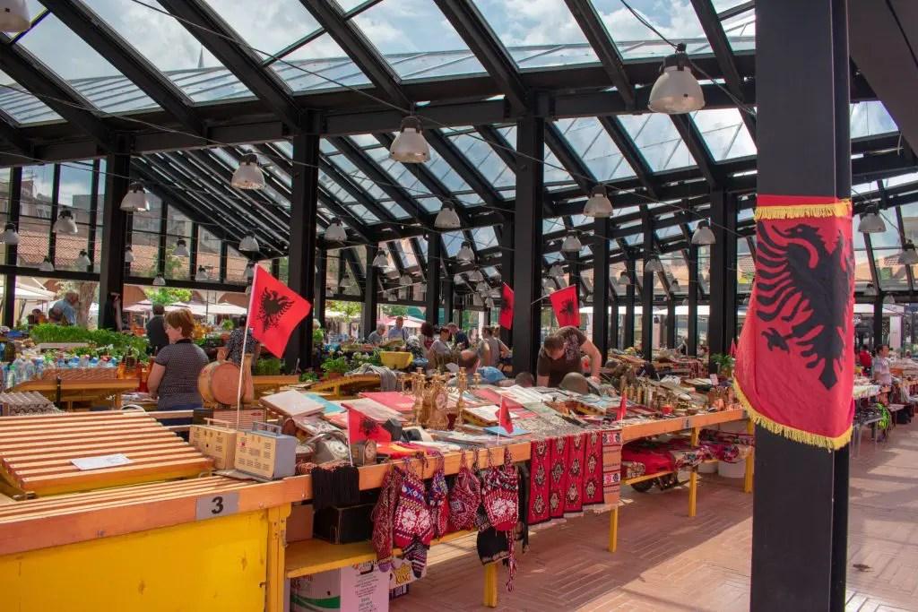 Tirana New Bazaar, Albania