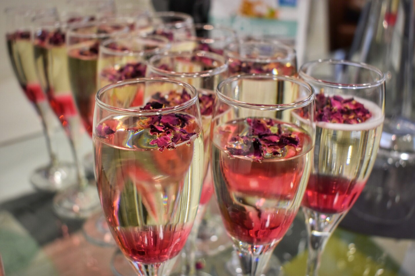 Rose Water Bellinis