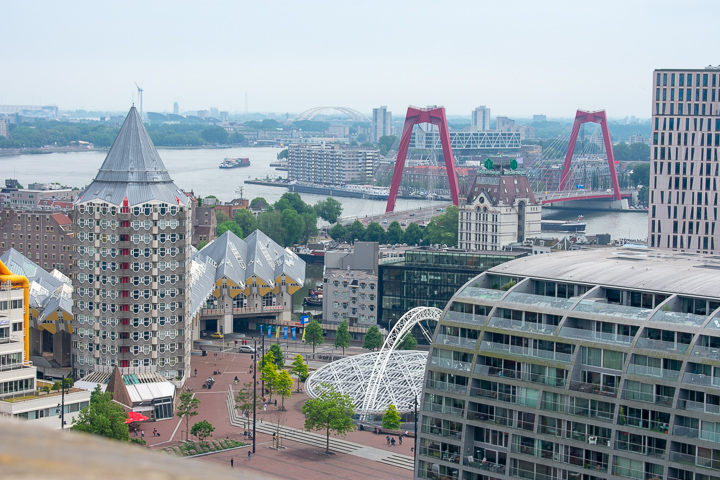 View from the Tower of Laurenskerk Rotterdam