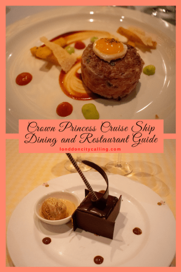 Crown Princess Cruise Ship Dining and Restaurant Guide