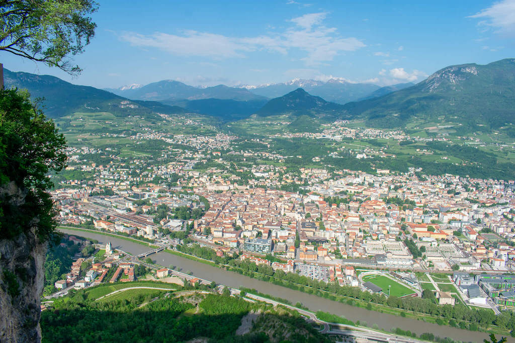 Visit Trentino Italy - View over Trento from cable car