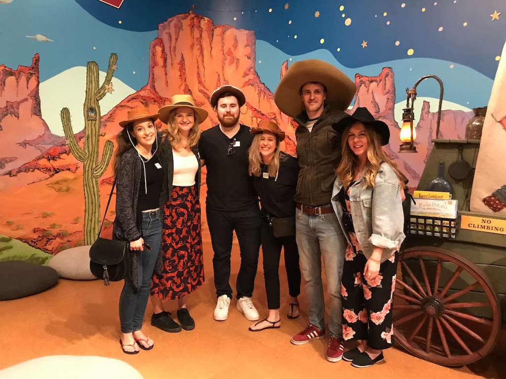 Areas of LA - people in Western costume at the Autry Museum of the American West LA