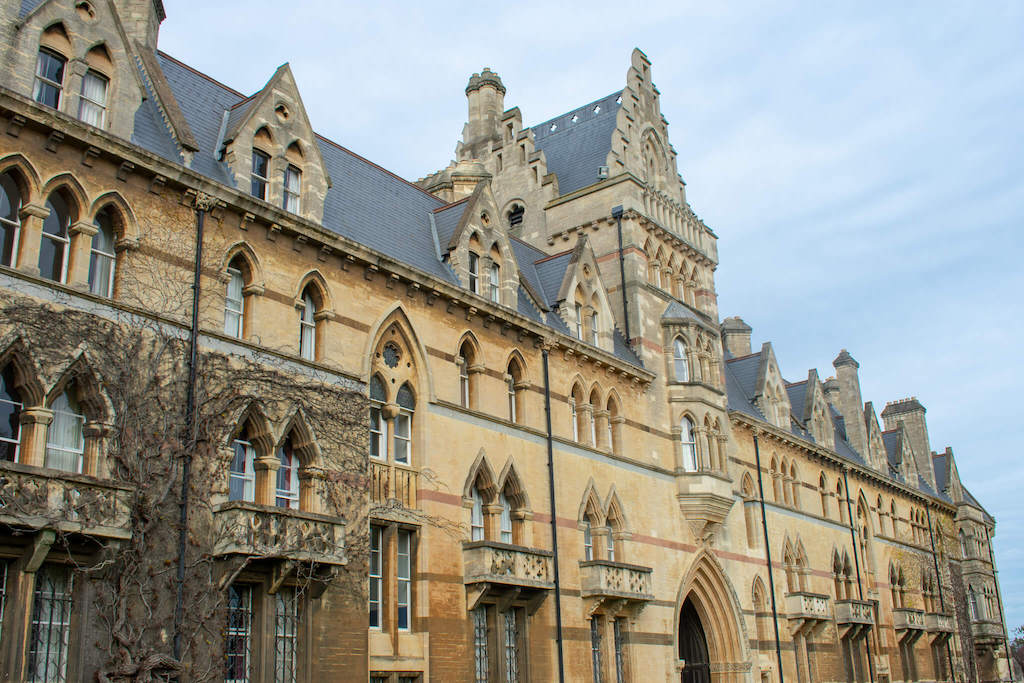 Gothic Architecture of Christ Church College in Oxford