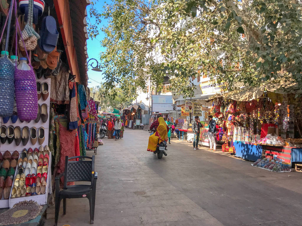 Colourful shopping street in Pushkar, North India