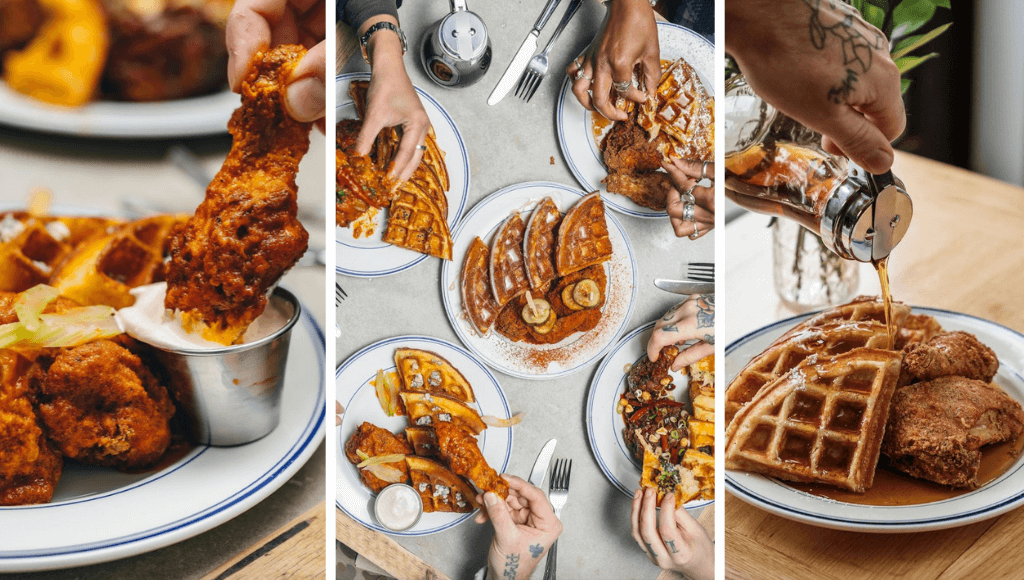 Chicken and waffles at Sweet Chick London