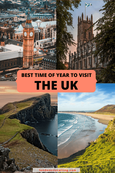 Best time of year to visit the UK Pin