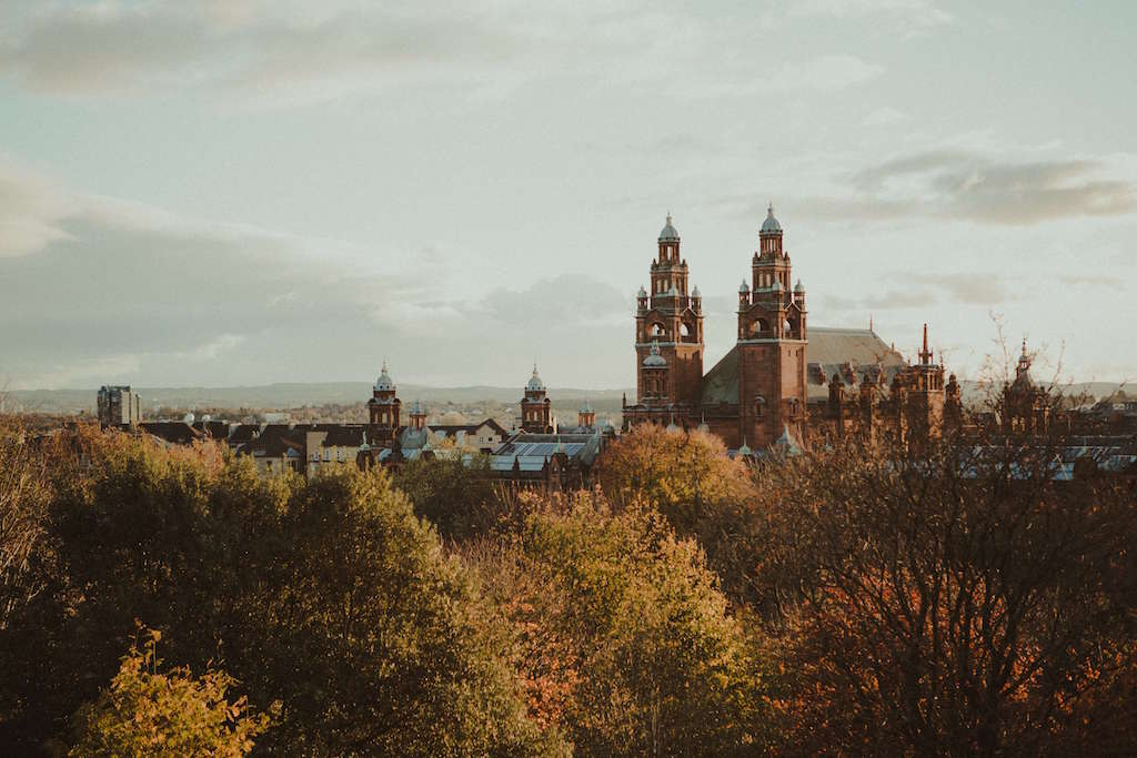 Building in Glasgow in Autumn
