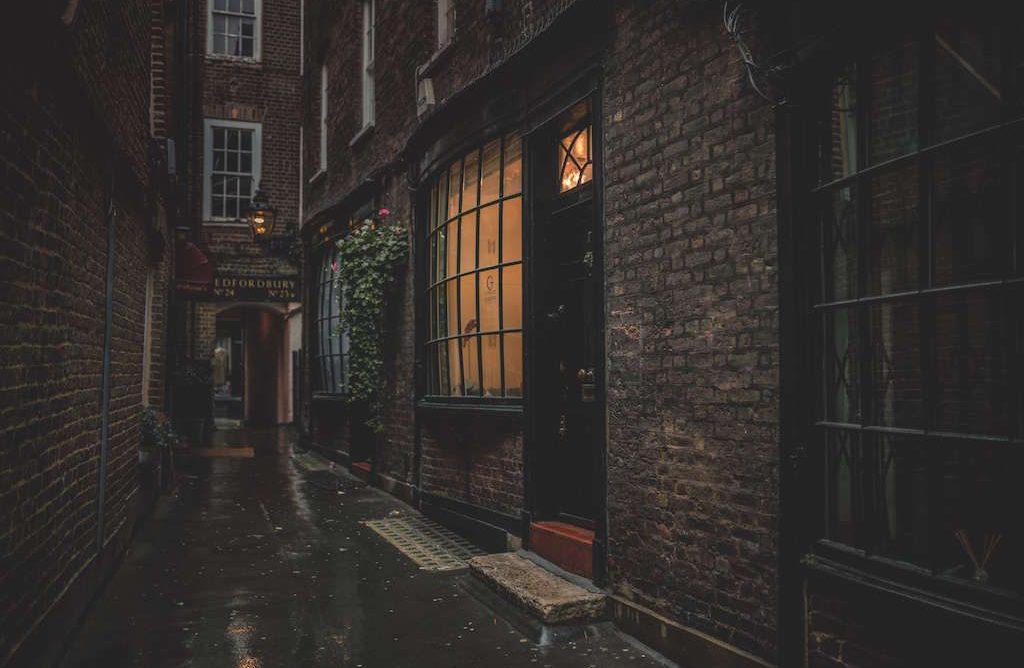 Dark Harry Potter alley London