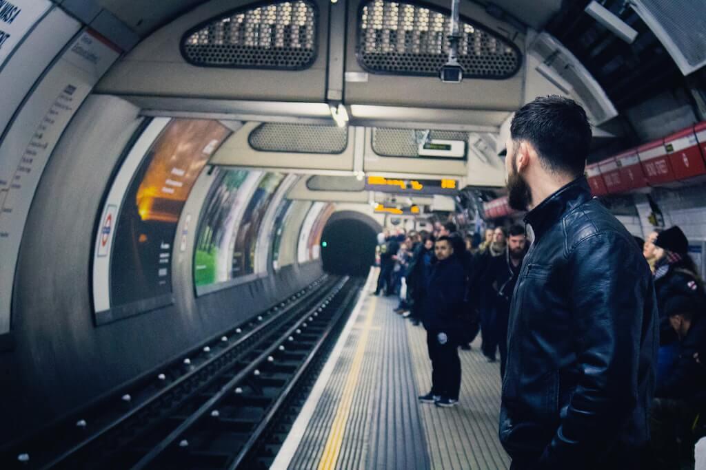 London Underground Busy