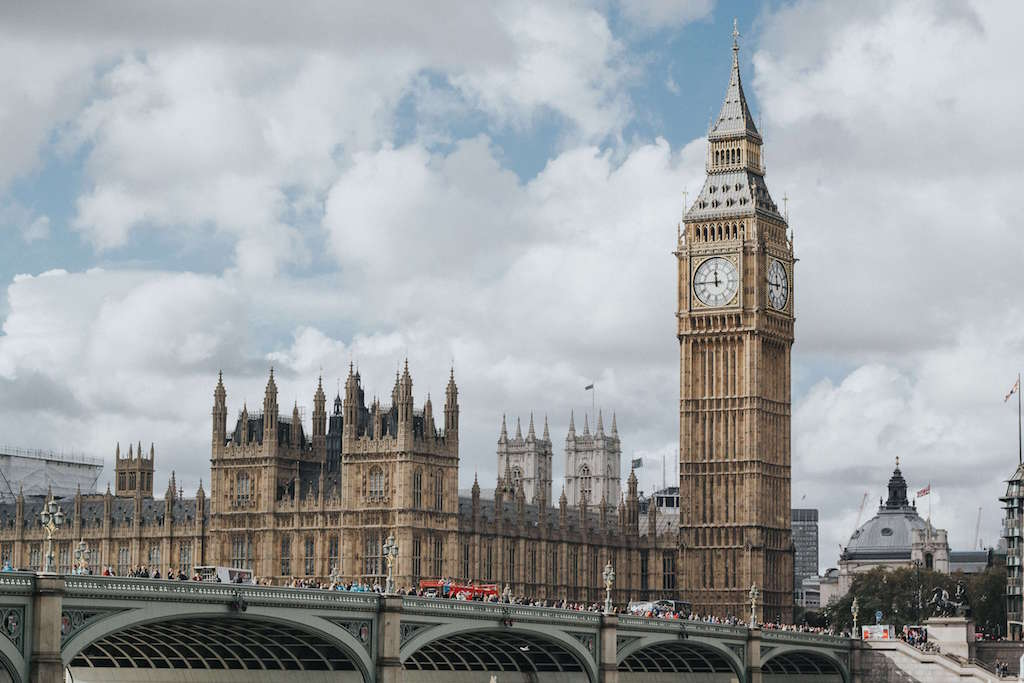 Big ben and houses of parliament in Westminster London