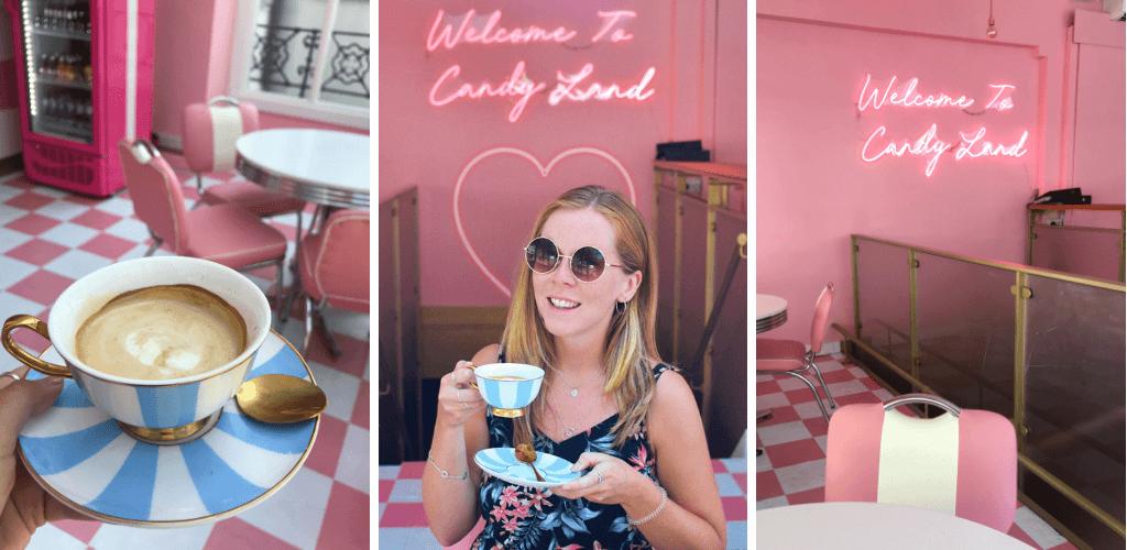 Bella Boos pink cafe London