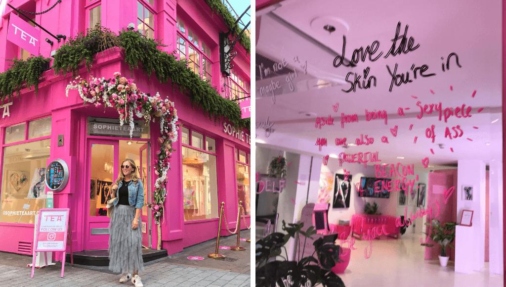 Sophie Tea Art London in pink