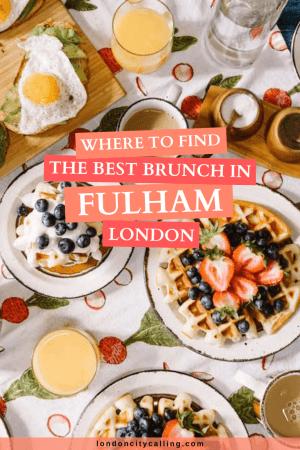 Best brunch in Fulham London pin