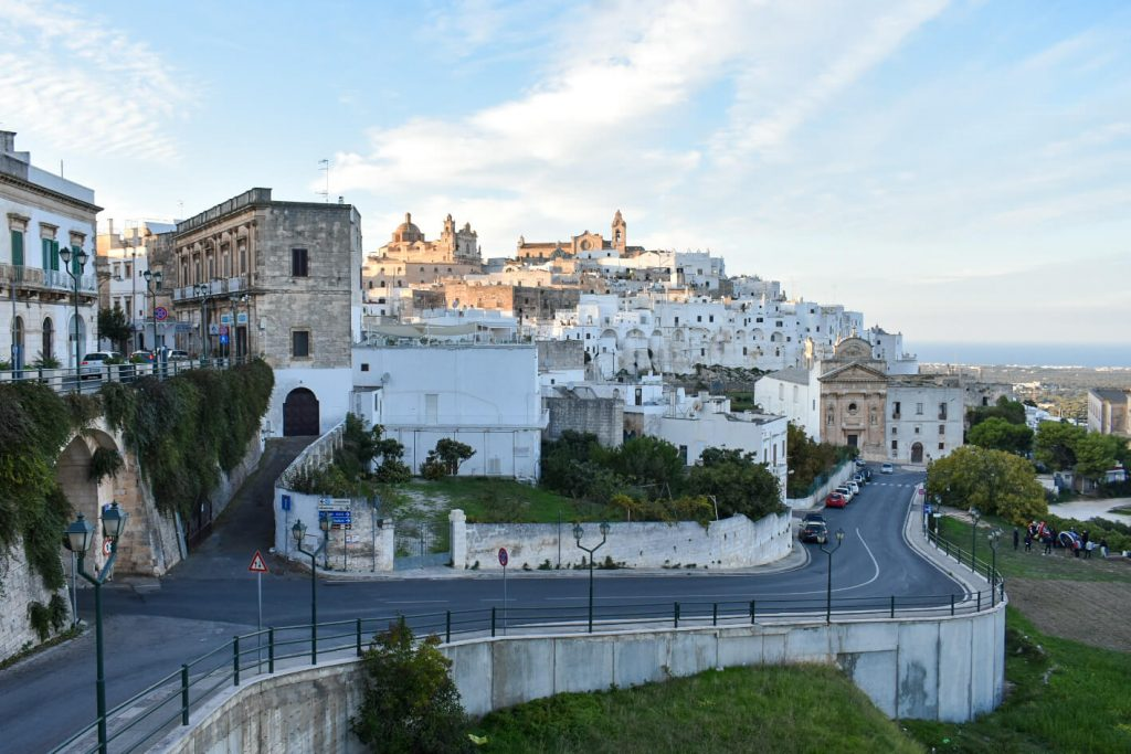 Whitewashed hilltop town of Ostuni