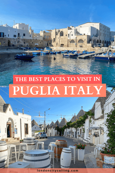 Best places to visit in Puglia pin