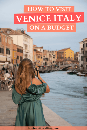 Visiting Venice on a budget pin
