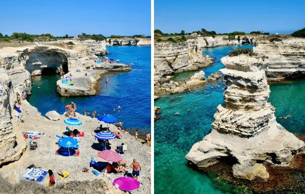 Salento coastline in Puglia