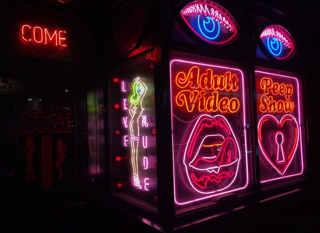 La Bodega Negra's sex shop entrance in Soho London