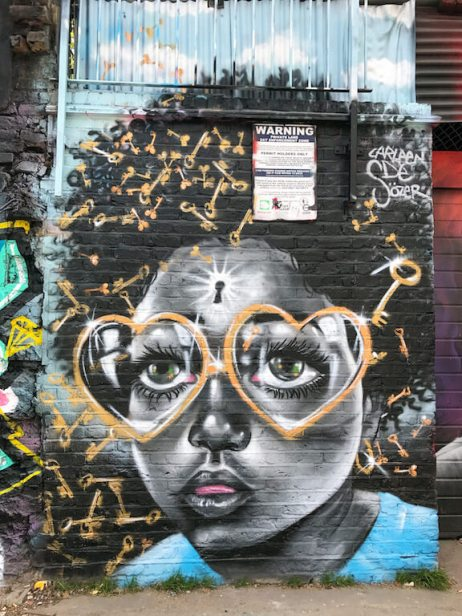 Shoreditch Street Art - Girl with glasses