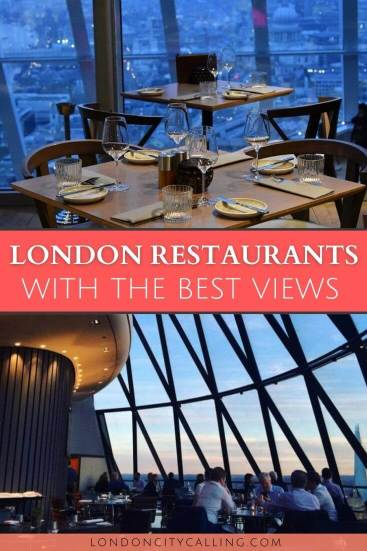 The best restaurants with a view in London pin