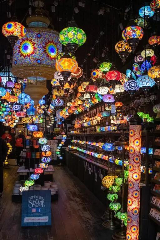 Camden market lanterns