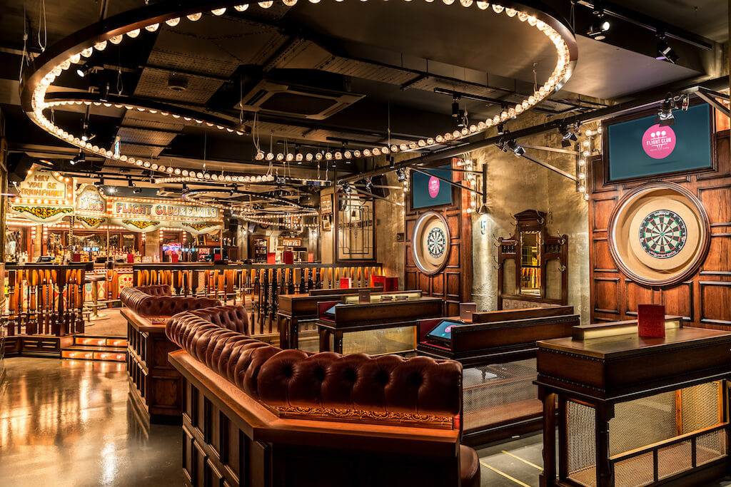 Flight club darts, unique bar in London