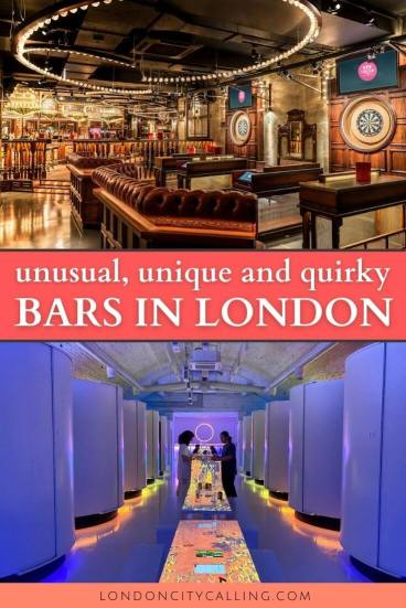 Unusual, unique and quirky bars in London pin