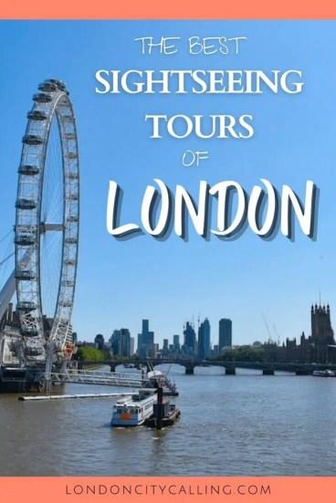 Sightseeing tours of London pin