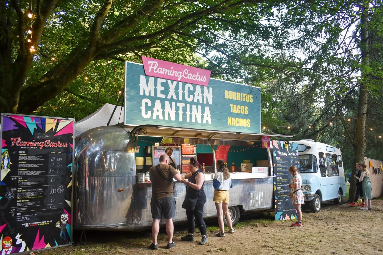 Food vans at Camp Wildfire