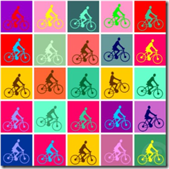 bike poster pedalling pop