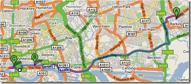 map of cycling superhighway