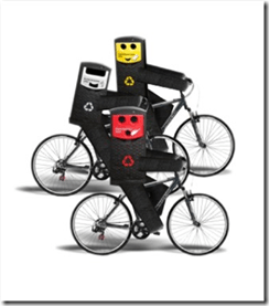 recycling bike poster
