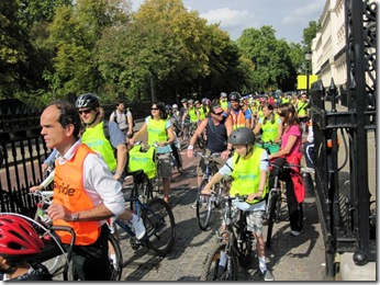 London Skyriders are out in force taking over the streets of London