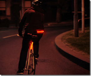 fibre flare bike light from the bike show