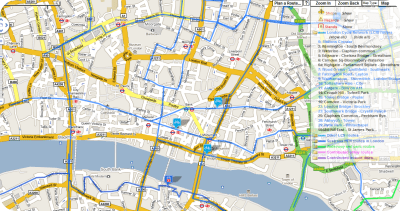 london cycle routes screenshot