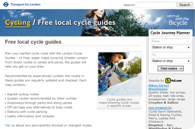 tfl cycle routes guides