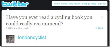 cycling book recommendations twitter