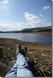 relaxing in peak district